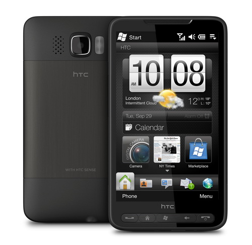 HTC  HD2 Actual Size Image