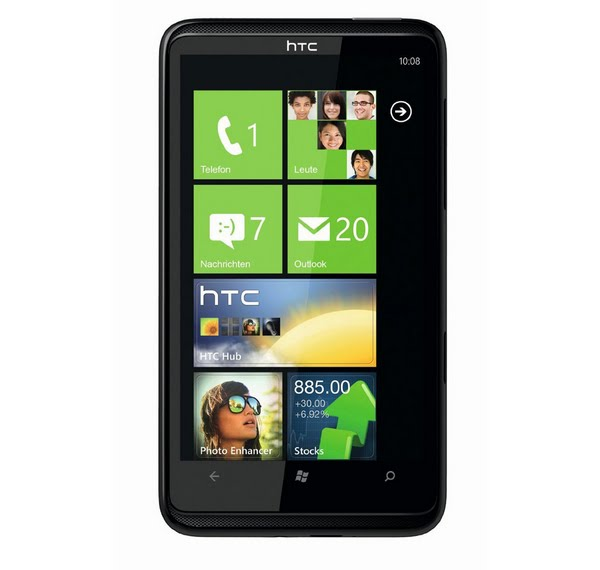 HTC HD7 (2) Actual Size Image