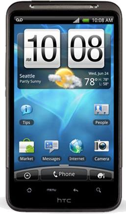 HTC Inspire 4G Actual Size Image
