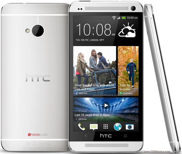 HTC One Actual Size Image