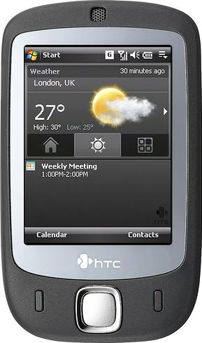 HTC Touch Actual Size Image