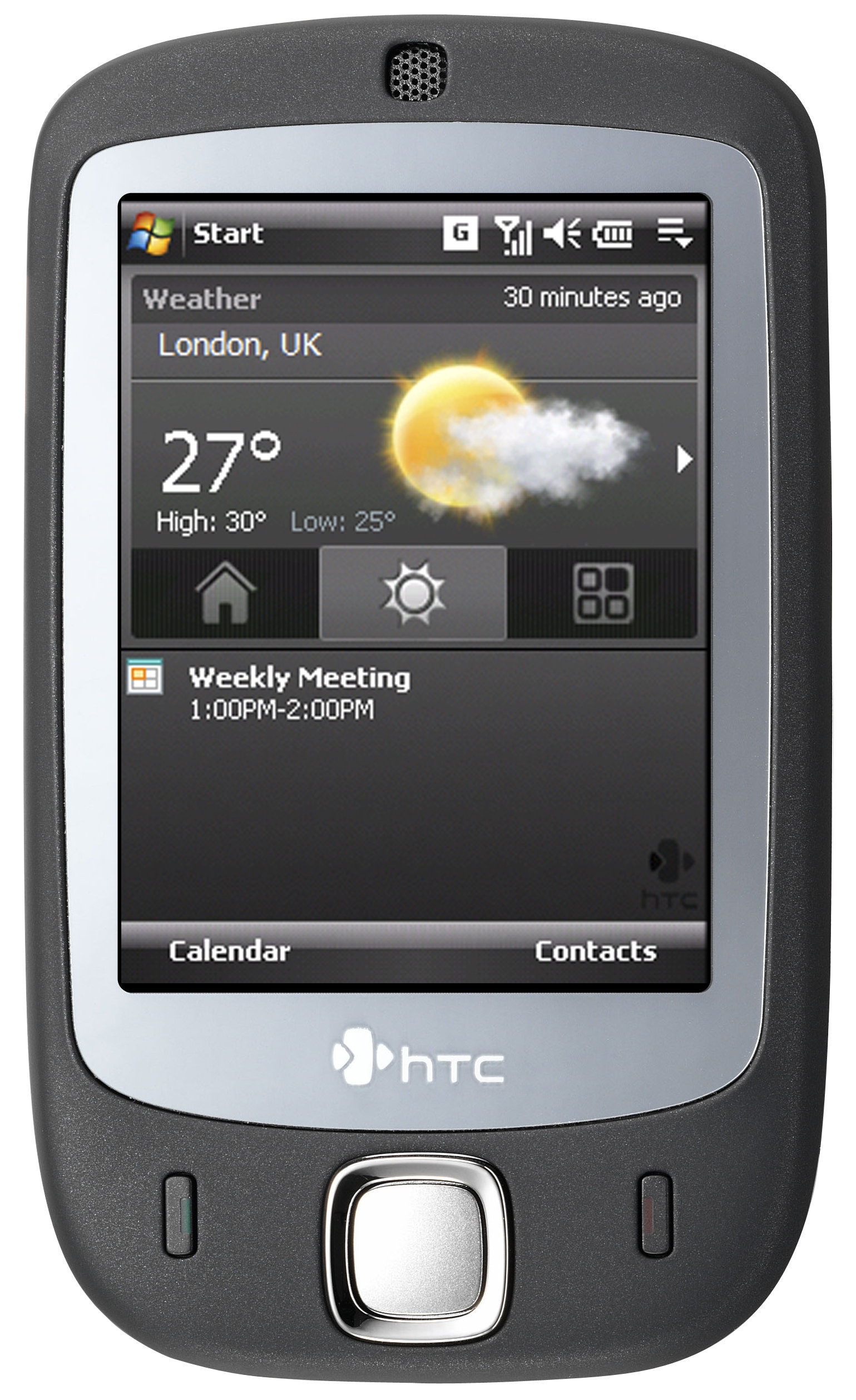 HTC Touch (P3450, ELF) Actual Size Image