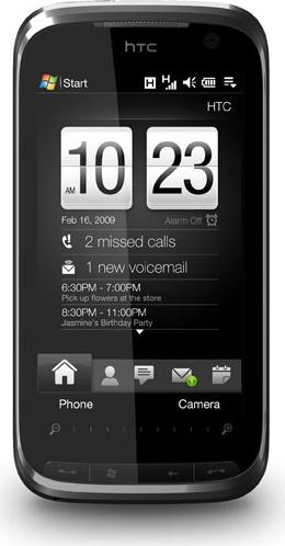 HTC Touch Pro CDMA Actual Size Image