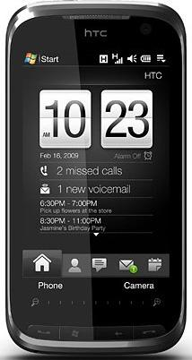 HTC Touch Pro2 Actual Size Image