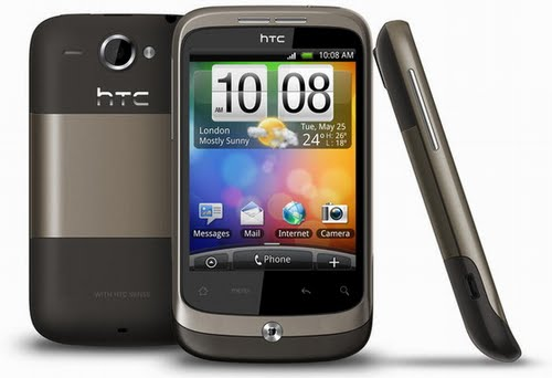 HTC Wildfire Actual Size Image