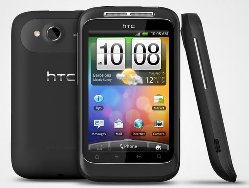 HTC Wildfire S Actual Size Image