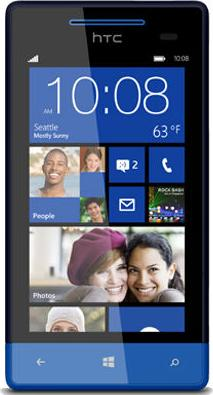 HTC Windows Phone 8S Actual Size Image