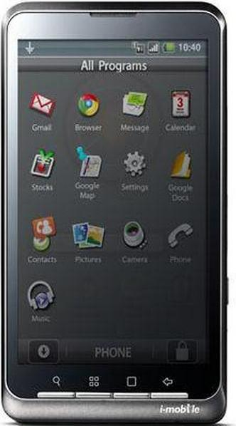 i-mobile i858 Actual Size Image