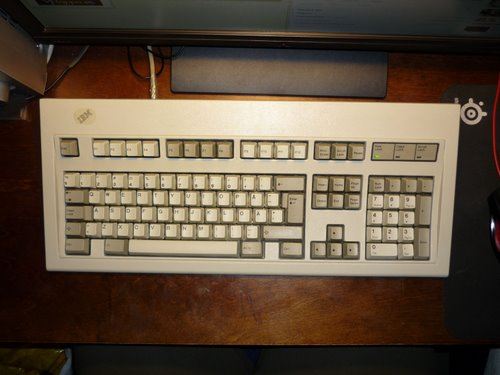 IBM Model M keyboard. Swedish layout. Actual Size Image