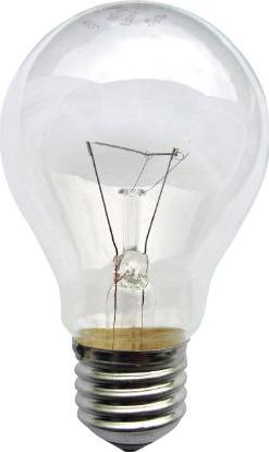 Incandescent light bulb E27 size Actual Size Image