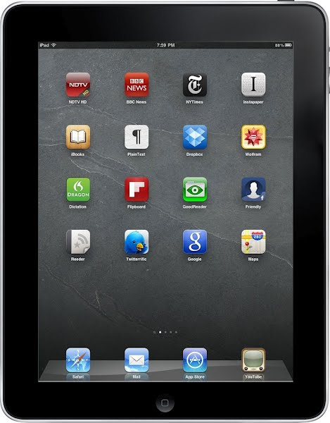 iPad 1 Actual Size Image