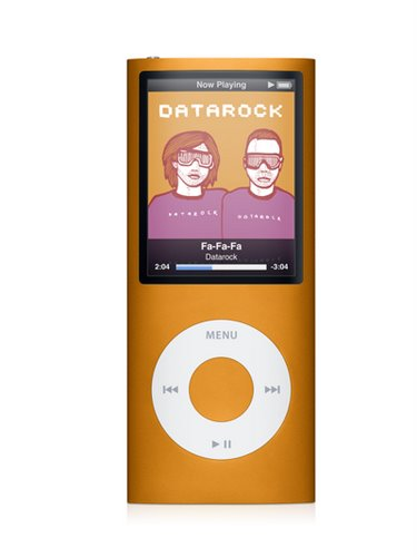 iPod Nano 4g Orange Actual Size Image