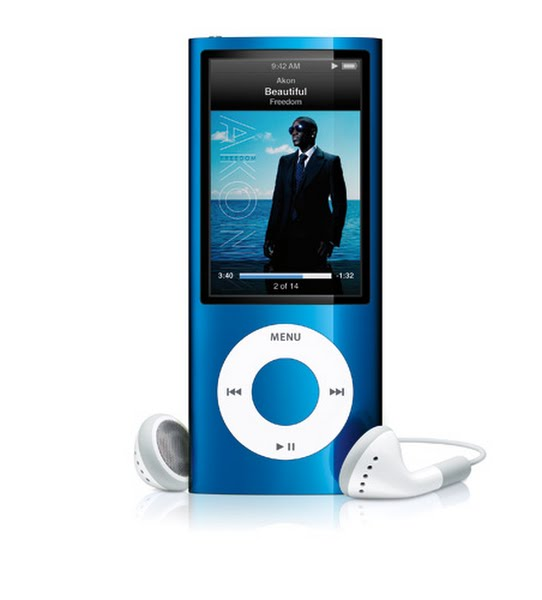 iPod nano 5th generation Actual Size Image
