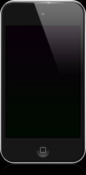 iPod Touch 4G (Black) Actual Size Image