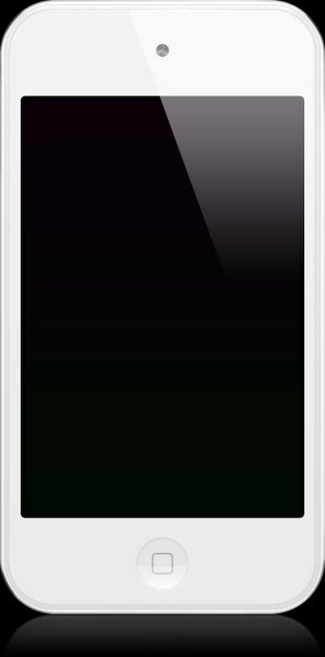 iPod Touch 4G (White) Actual Size Image