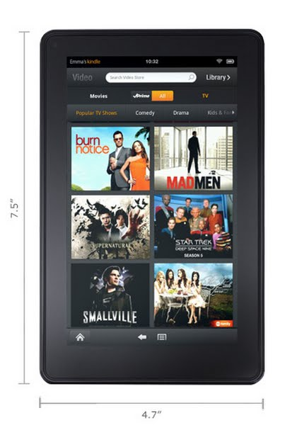 Kindle Fire Actual Size Image