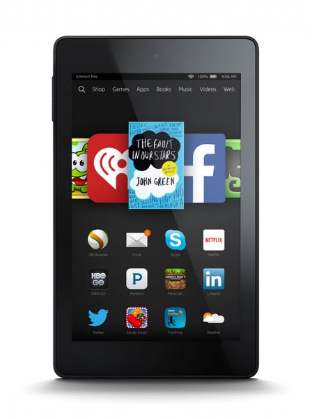 Kindle Fire HD 6 Actual Size Image