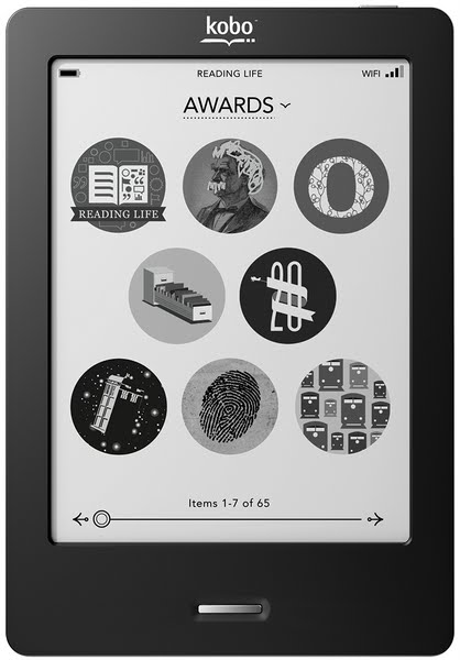 Kobo Touch eReader - Black Actual Size Image