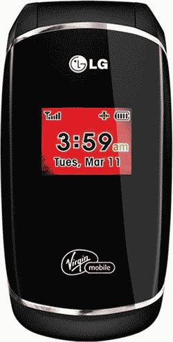 LG Flare Prepaid Phone (Virgin Mobile) Actual Size Image