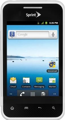 LG Optimus Elite Actual Size Image