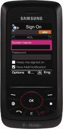 LG Voyager Black Phone (Verizon Wireless) Actual Size Image