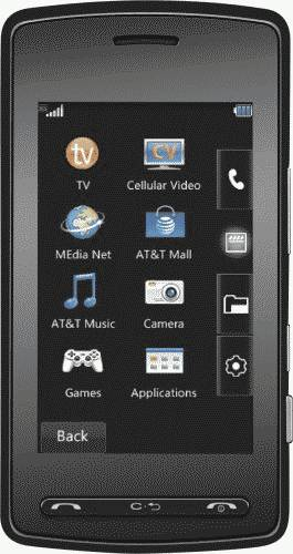LG Vu CU920 TV Phone (AT&T) Actual Size Image
