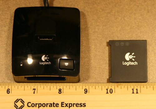 Logitech G7 Battery & Charger Actual Size Image