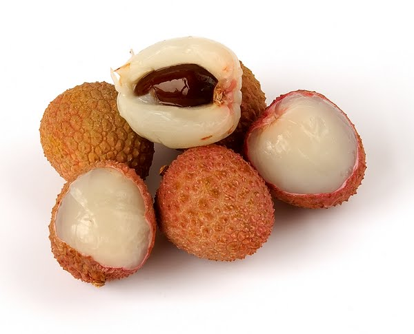 Lychee fruit Actual Size Image