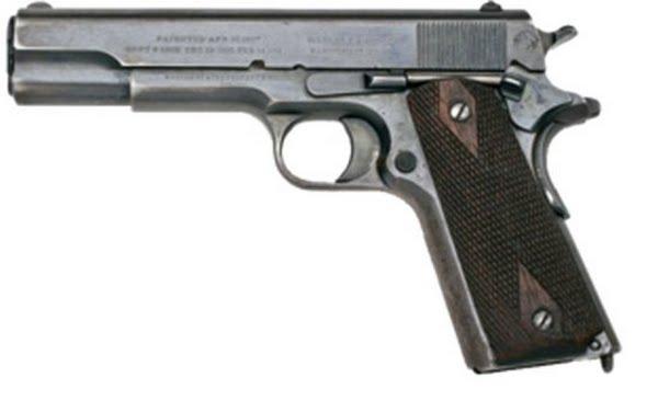 M1911 pistol Actual Size Image