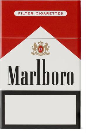 Marlboro Red cigarette pack Actual Size Image