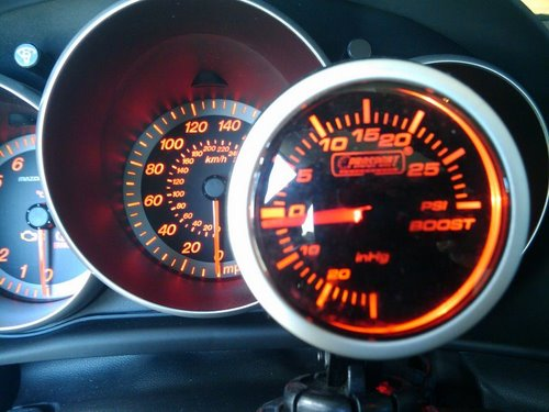 Mazdaspeed 3 dash w boost gauge Actual Size Image