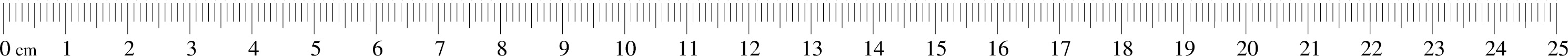 Metric Ruler Actual Size Image