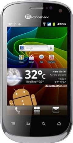 Micromax A75 Actual Size Image
