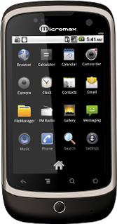 Micromax Andro A70 Actual Size Image