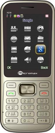 Micromax X231 Actual Size Image