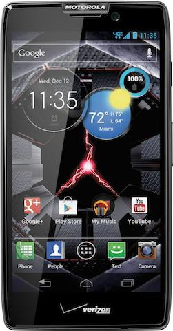 Motorola Droid Razr HD Actual Size Image