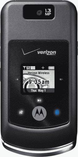 Motorola w755 Black Phone (Verizon Wireless) Actual Size Image