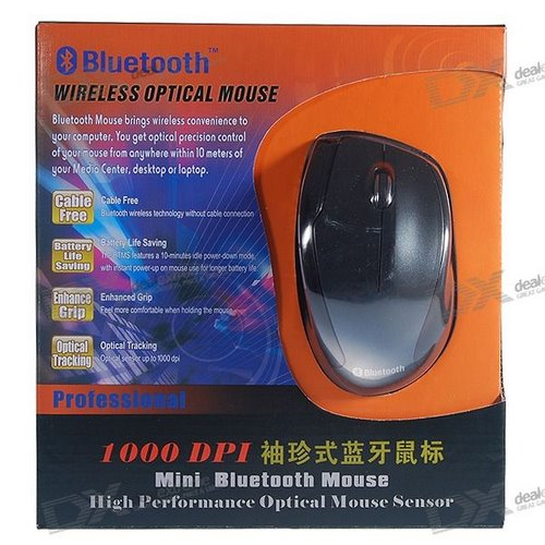 Mouse Bluetooth DealExtreme Actual Size Image
