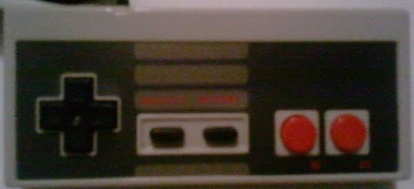 NES controller Actual Size Image