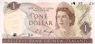 New Zealand 1 Dollar note Actual Size Image
