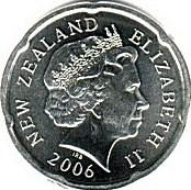 New Zealand 20 cent coin Actual Size Image