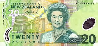 New Zealand 20 Dollar note Actual Size Image