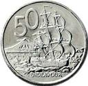 New Zealand 50 cent coin Actual Size Image