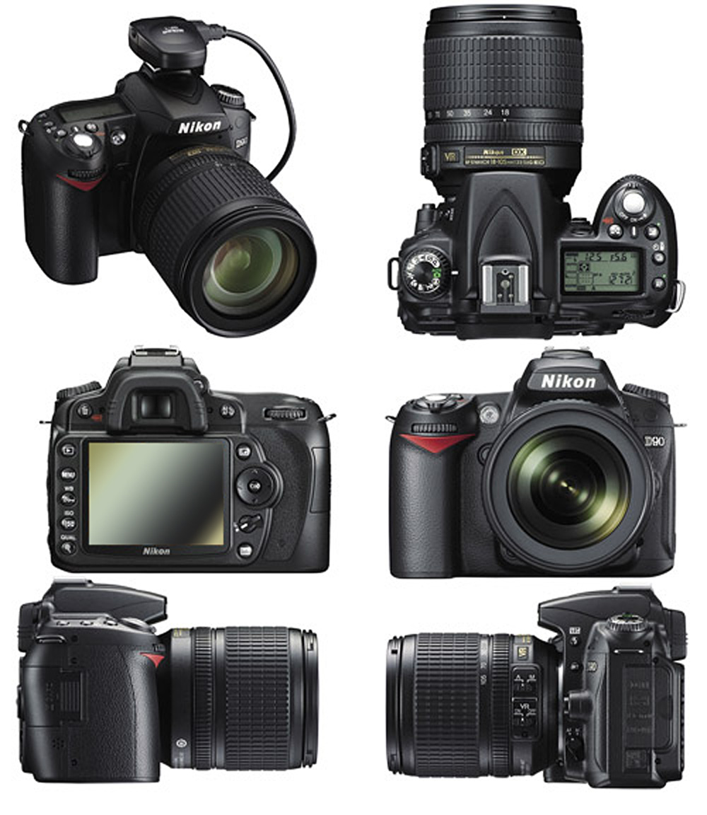 Nikon D90 with Kit lens Actual Size Image