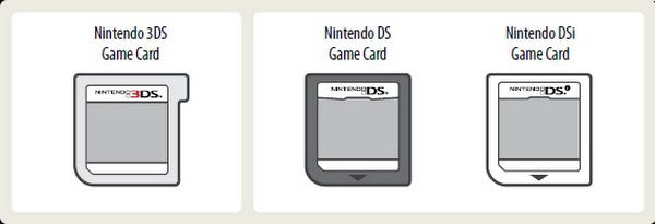 Nintendo DS game cards Actual Size Image