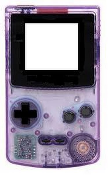 Nintendo Game Boy Color Actual Size Image