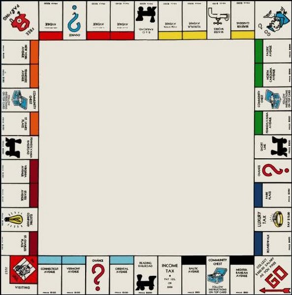 nmonopoly board Actual Size Image