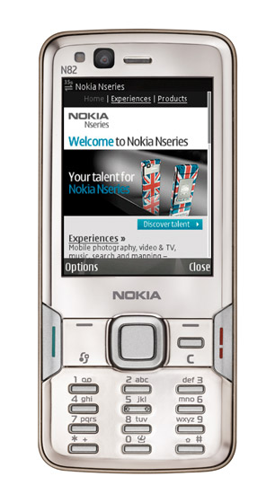 Nokia N82 Actual Size Image