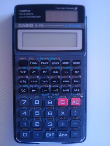 Old calculator Casio fx-991s (2) Actual Size Image