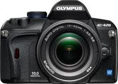 Olympus E-420 Actual Size Image